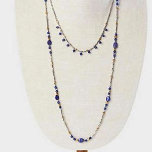J. Jill Brilliant Blues Lapis Layered Necklace